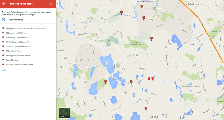 Google Trail Entrance Map